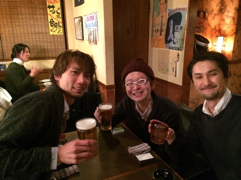 湯川さん、宇野さん、白メガネ
